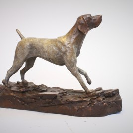 The Studio Art Gallery - Sculpture - German Shorthaired Pointer by Chris Bladen (2)