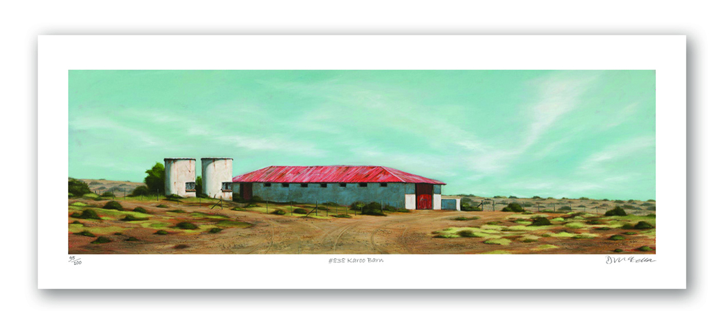 The Studio Art Gallery - Karoo Barn (838) by Donna McKellar - Paper Print
