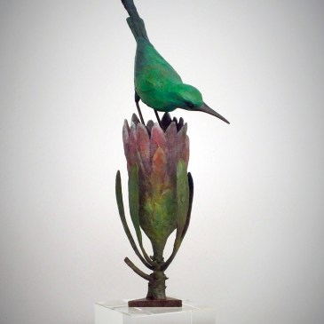 The Studio Art Gallery - Sculpture - Malachite Sunbird by Chris Bladen (1)