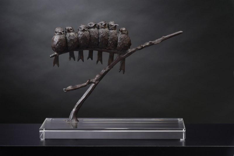 The Studio Art Gallery - Richard Gunston Sculptures - Bee Eaters by Richard Gunston