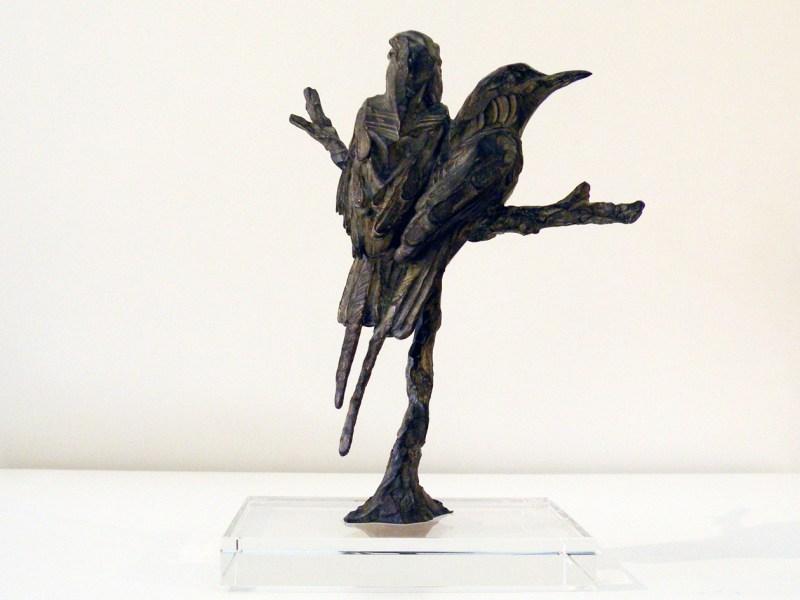 The Studio Art Gallery - Richard Gunston Sculptures - Crimson Bee-eaters Detail 1