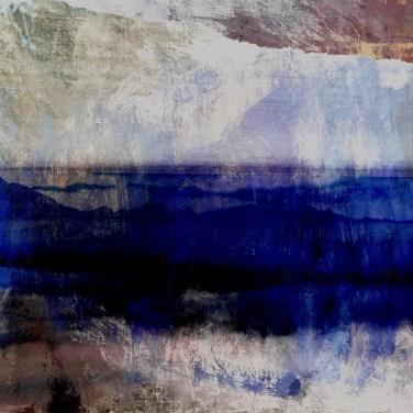 The Studio Art Gallery - Edge of Blue - Edge of Blue by Robyn Schoon - Digital Mixed Media