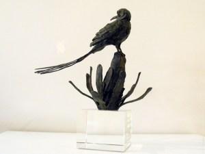 The Studio Art Gallery - Richard Gunston Sculptures - Long Tailed Cape Sugarbird Detail 3