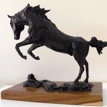 The Studio Art Gallery - Richard Gunston Sculptures - Rearing Arab Stallion Detail 2