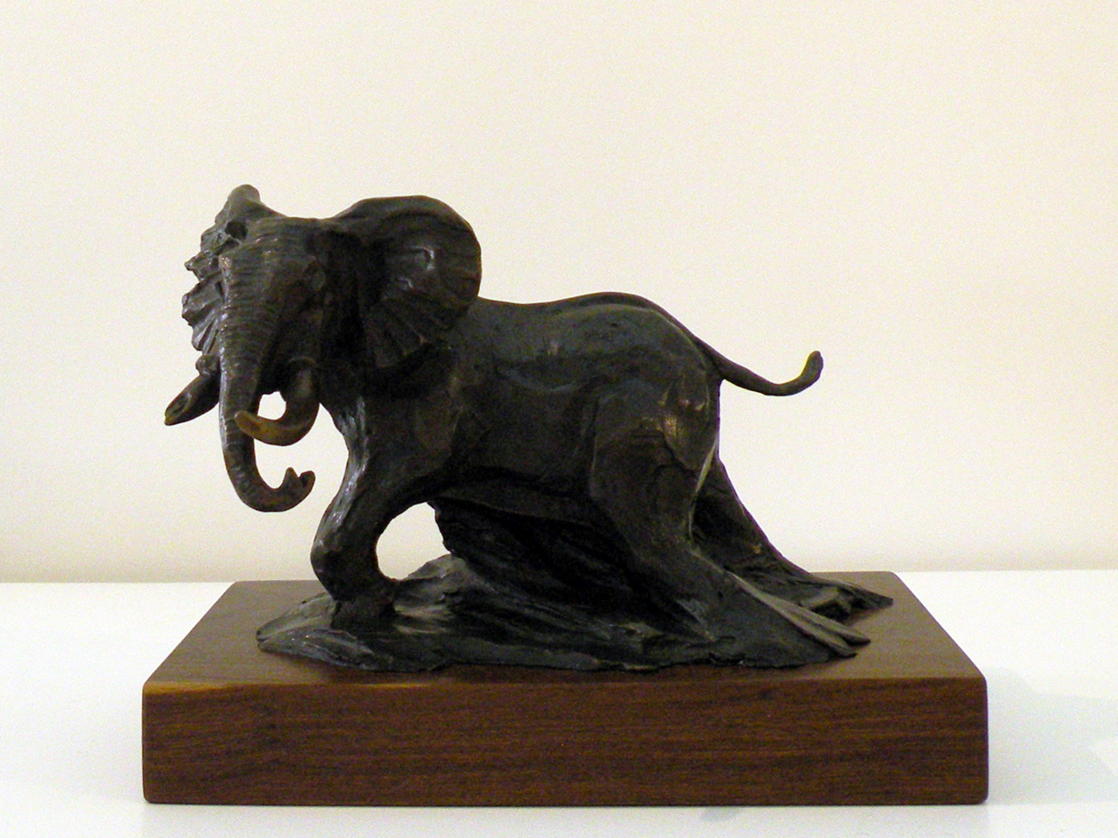 The Studio Art Gallery - Richard Gunston Sculptures - Small Bull Elephant Detail 1