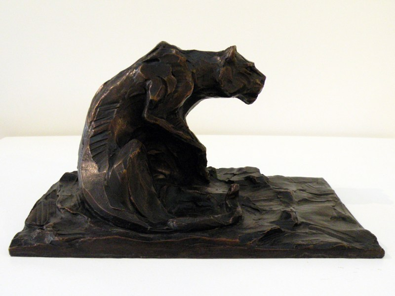 The Studio Art Gallery - Richard Gunston Sculptures - Small Lioness Marquette Detail 1