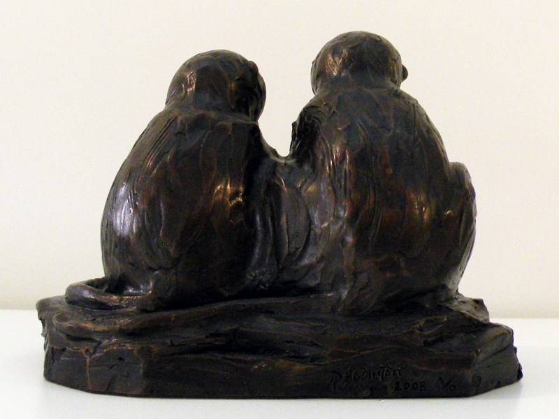 The Studio Art Gallery - Richard Gunston Sculptures - Vervet Pair Detail 3