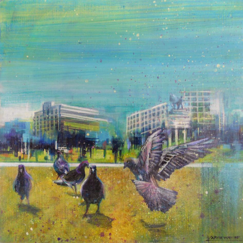 The Studio Art Gallery - A Stream of Consciousness III by Karen Wykerd