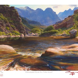 The Studio Art Gallery - Andrew Cooper - Elandspad River Du Toits Kloof Limited Edition Print
