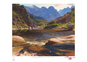 The Studio Art Gallery - Andrew Cooper - Elandspad River Du Toits Kloof Limited Edition Print