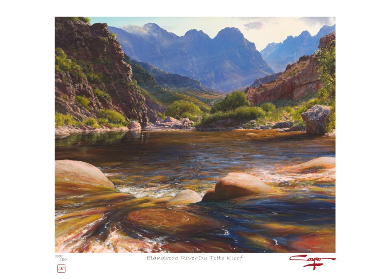 Andrew Cooper | The Studio Art Gallery - Elandspad River Du Toits Kloof Limited Edition Print