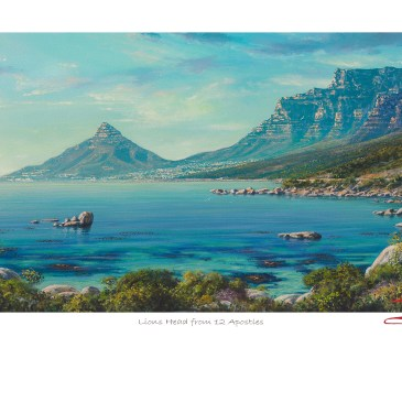 Andrew Cooper | The Studio Art Gallery - Lions Head from 12 Apostles Limited Edition Print