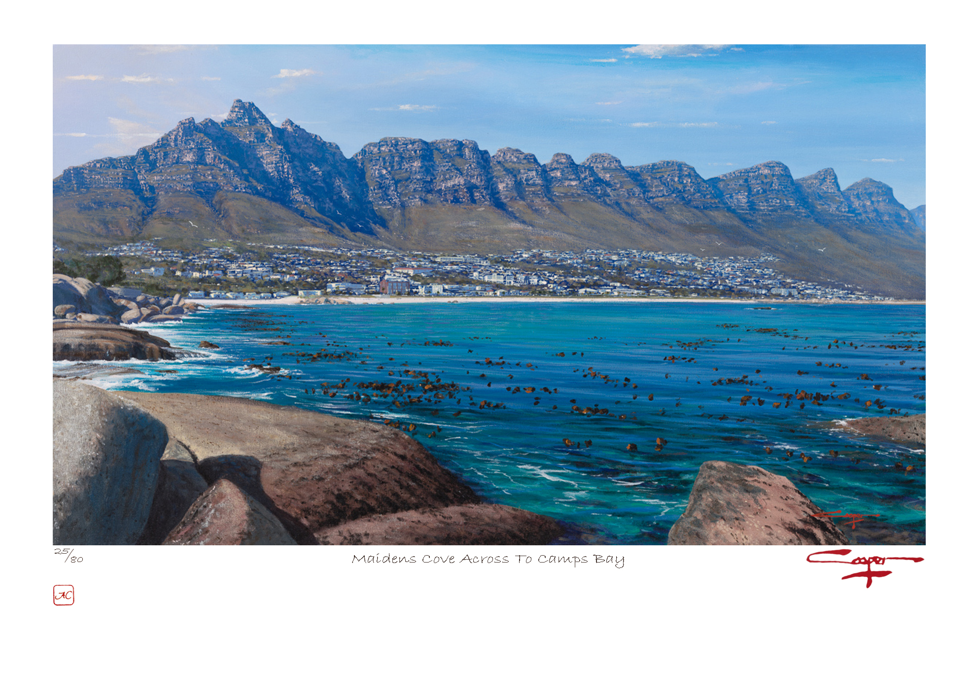 The Studio Art Gallery - Andrew Cooper - Maidens Cove Across To Camps Bay Limited Edition Print
