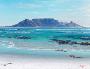 The Studio Art Gallery - Andrew Cooper - Table Mountain From Blouberg Strand