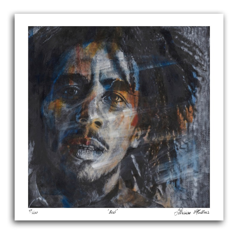 The Studio Art Gallery - Bob Marley by Therese Mullins - Artist Print on Paper