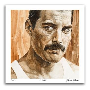 The Studio Art Gallery - Freddie Mercury by Therese Mullins - Artist Print on Paper