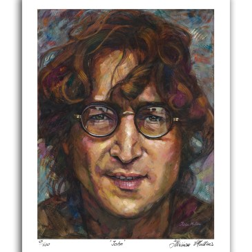 The Studio Art Gallery - John Lennon by Therese Mullins - Artist Print on Paper