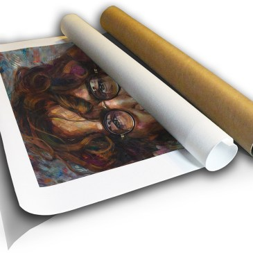 The Studio Art Gallery - John Lennon by Therese Mullins - Canvas Print in Tube