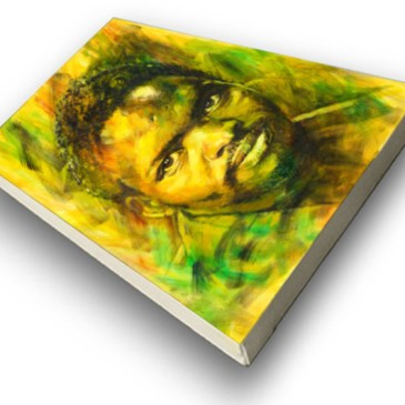 The Studio Art Gallery - Steve Biko by Therese Mullins - Stretched Canvas
