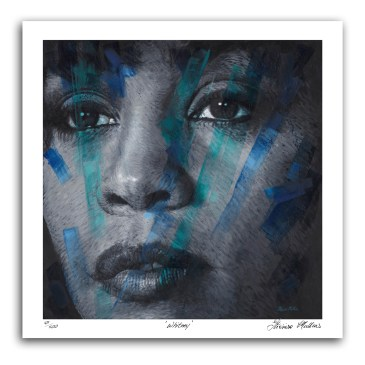 The Studio Art Gallery - Whitney Houston by Therese Mullins - Artist Print on Paper