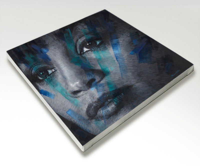 The Studio Art Gallery - Whitney Houston by Therese Mullins - Stretched Canvas