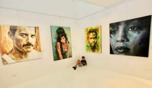 The Studio Art Gallery - Immortals, a solo exhibition by Therese Mullins. 09