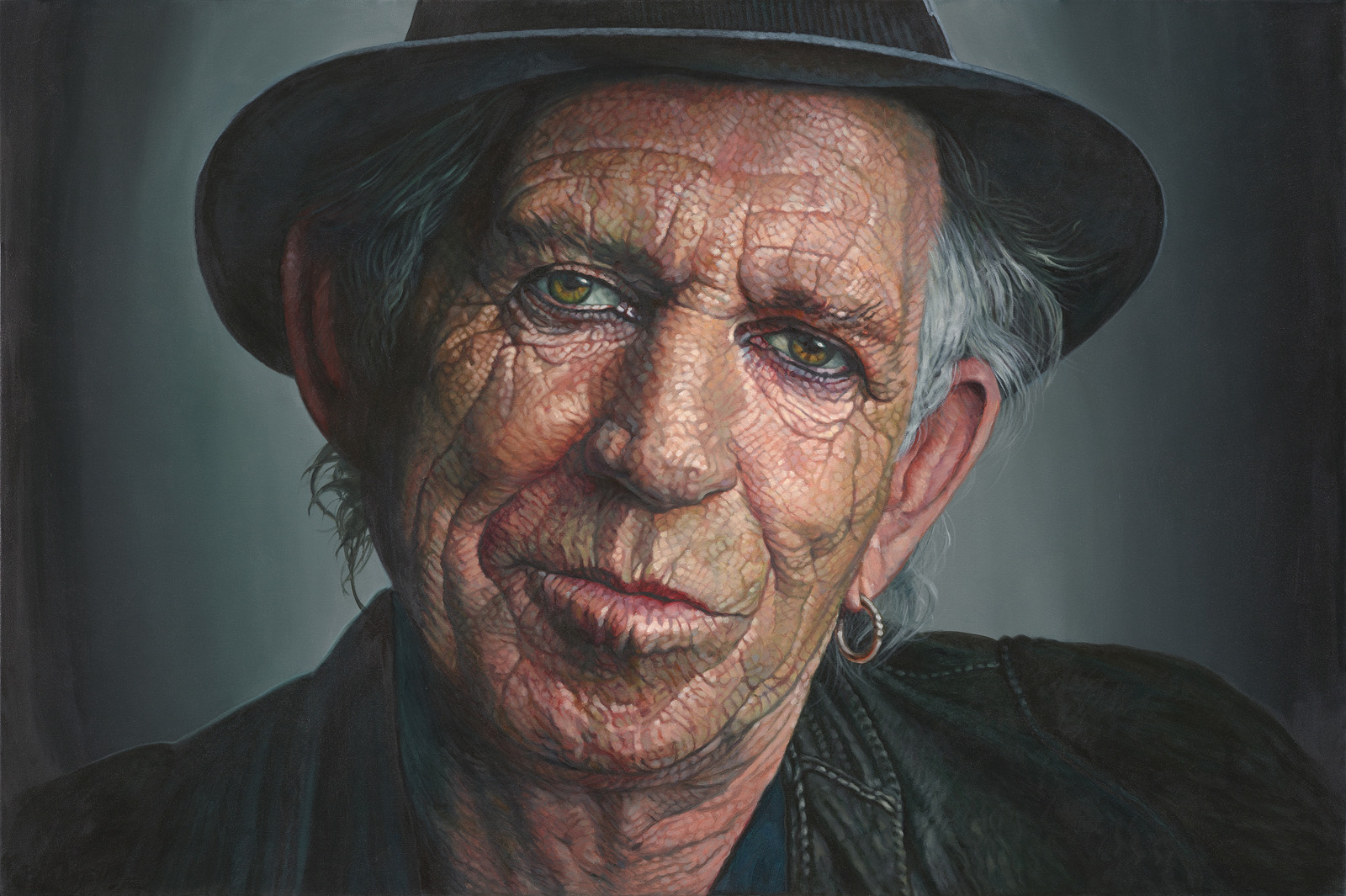 The Studio Art Gallery - Keith Richards by Therese Mullins