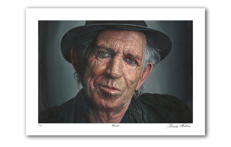 The Studio Art Gallery - Kieth Richards by Therese Mullins - Archival Print on Paper
