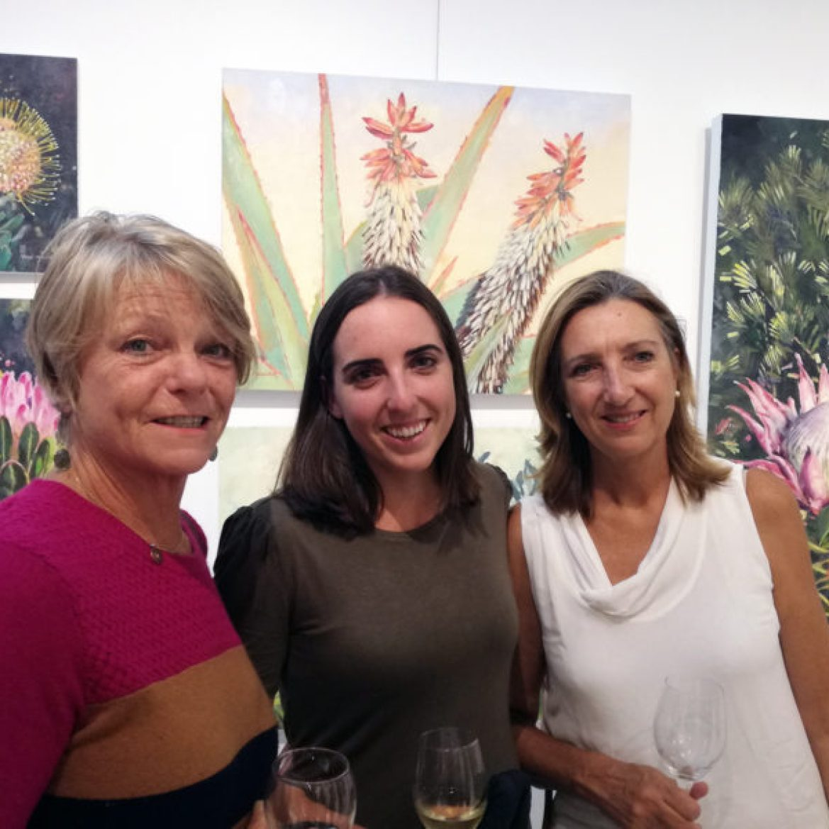 The Studio Art Gallery - Nolas Garden a Solo Exhibition by Nola Muller - Opening Pic 3