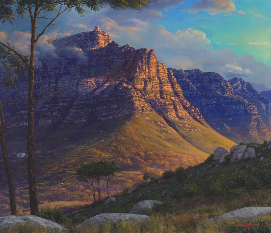 The Studio Art Gallery - Table Mountain Kloofneck by Andrew Cooper