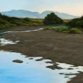 The Studio Art Gallery - Jennifers River 867 by Donna McKellar