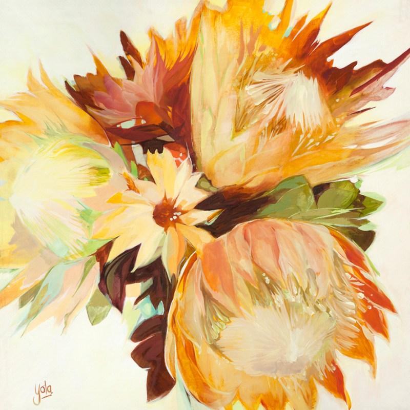 The Studio Art Gallery - Proteas I by Yola Quinn