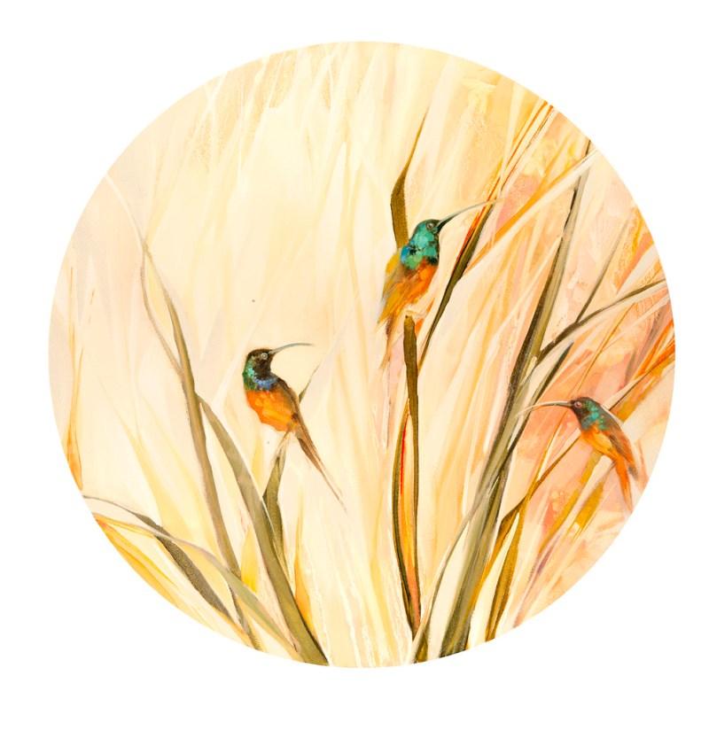 The Studio Art Gallery - Sunbirds by Yola Quinn