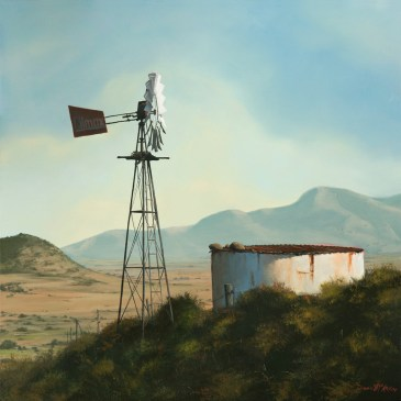 The Studio Art Gallery - West Coast Windmill 859 by Donna McKellar
