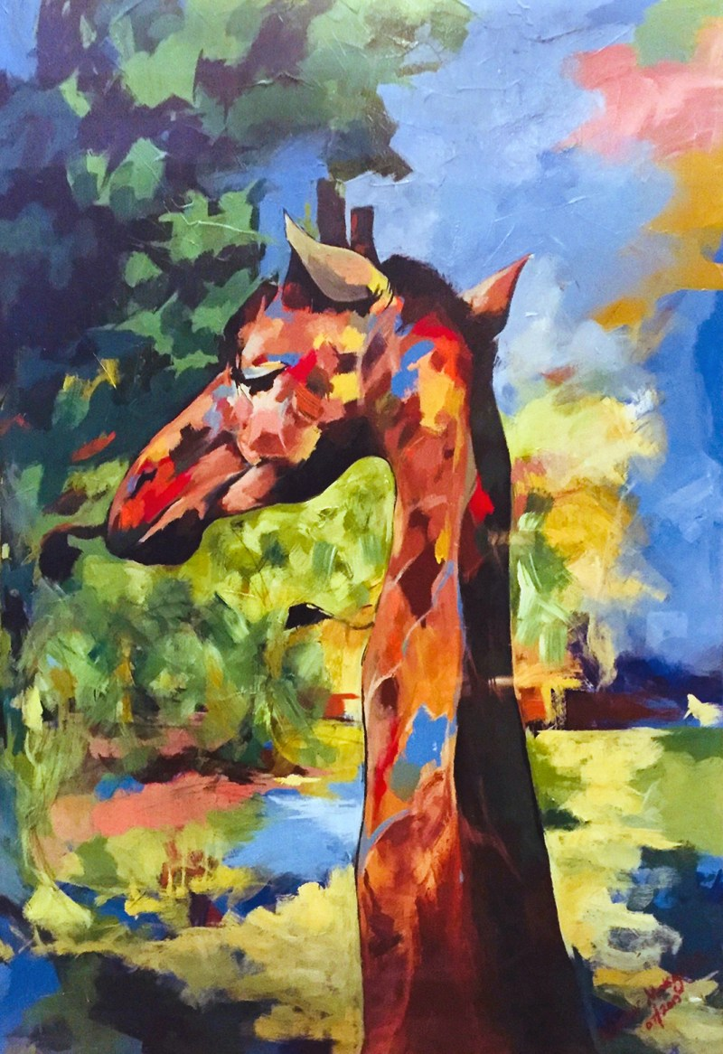 The Studio Art Gallery - Giraffe by Andrew Mokgatla