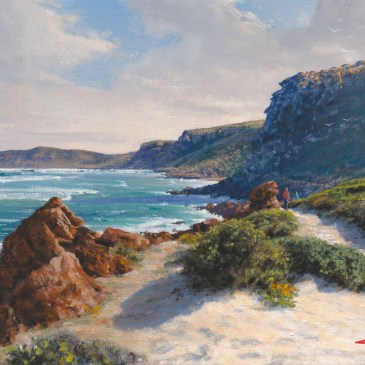 Andrew Cooper | The Studio Art Gallery - Robberg afternoon stroll, Plettenberg Bay, 40cm by 28cm
