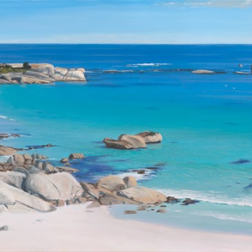 Andrew Cooper | The Studio Art Gallery - Clifton Beach, Acrylic on Canvas, 180cm by 70cm