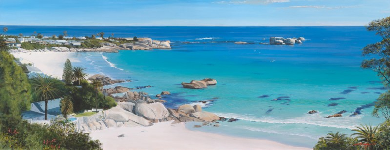 Andrew Cooper   The Studio Art Gallery - Clifton Beach, Acrylic on Canvas, 180cm by 70cm