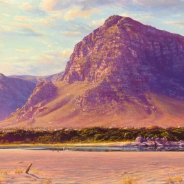Andrew Cooper | The Studio Art Gallery - Hermanus Lagoon Afternoon, Acrylic on Canvas, 80cm by 50cm