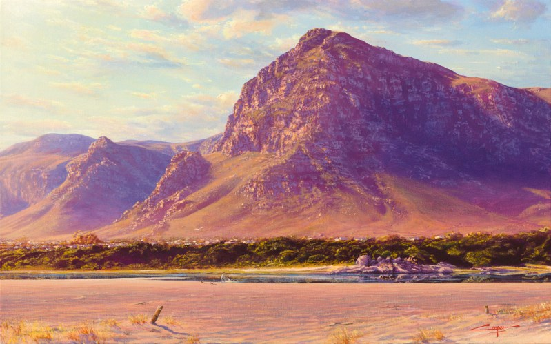 Andrew Cooper   The Studio Art Gallery - Hermanus Lagoon Afternoon, Acrylic on Canvas, 80cm by 50cm