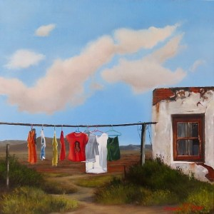 Donna McKellar | The Studio Art Gallery | Unpetrified - Washing Day II 896