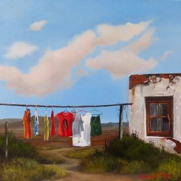 Donna McKellar | The Studio Art Gallery | Unpetrified - Washing Day II 896