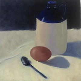 The Studio Art Gallery   2021 Mandela Day Block Art Exhibition   Colleen Lewis - The Blue Jar