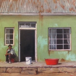 The Studio Art Gallery   2021 Mandela Day Block Art Exhibition   Donna McKellar - Washing Day 894