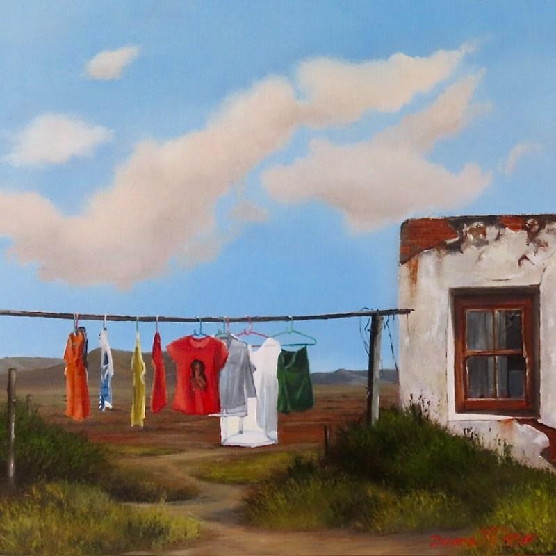 The Studio Art Gallery   2021 Mandela Day Block Art Exhibition   Donna McKellar - Washing Day II 896