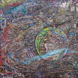 The Studio Art Gallery   2021 Mandela Day Block Art Exhibition   N.D Mazin – Archeology of the Anthropocene Series – # 2 The Ruined City