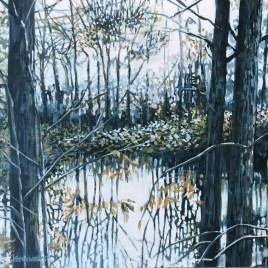The Studio Art Gallery   2021 Mandela Day Block Art Exhibition   Karen Wykerd - Take Me To The Trees VI