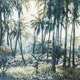 The Studio Art Gallery   2021 Mandela Day Block Art Exhibition   Karen Wykerd - Take Me To The Trees VII
