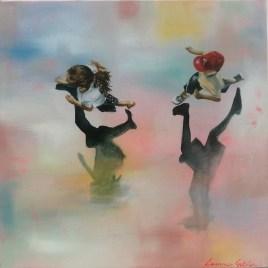 The Studio Art Gallery   2021 Mandela Day Block Art Exhibition   Leanne Gitlin - Catch II