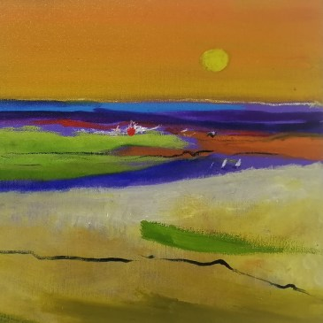 The Studio Art Gallery | 2021 Mandela Day Block Art Exhibition | Margot Gawith - Landscape II